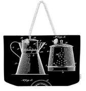 Coffee Pot Patent 1916 Black Weekender Tote Bag