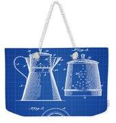 Coffee Pot Patent 1916 Blue Print Weekender Tote Bag