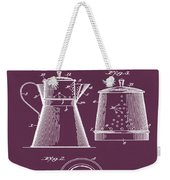 Coffee Pot Patent 1916 Red Weekender Tote Bag