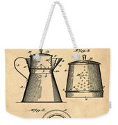 Coffee Pot Patent 1916 Sepia Weekender Tote Bag