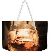 Cognac Glass On Bar Counter Weekender Tote Bag