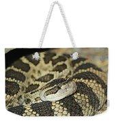 Coiled Rattlesnake Weekender Tote Bag