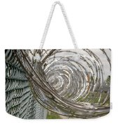 Coiled Razor Wire On Fence Weekender Tote Bag