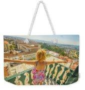 Coimbra Aerial Woman Weekender Tote Bag