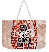 Coke Typography Weekender Tote Bag