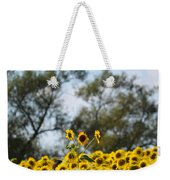 Colby Farms Sunflower Field Newbury Ma Standing Tall Weekender Tote Bag