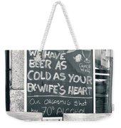 Cold Beer Weekender Tote Bag