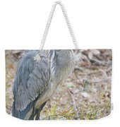 Cold Blue Heron Weekender Tote Bag