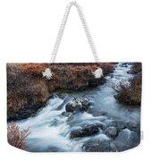 Cold Creek In Autumn Weekender Tote Bag