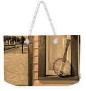 Cold Point Village Station - Banjo Mandolin In Sepia Weekender Tote Bag