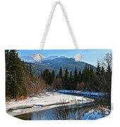 Cold River Bend Weekender Tote Bag