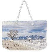 Cold Winter Day Weekender Tote Bag