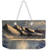Cold Winter Lake Weekender Tote Bag