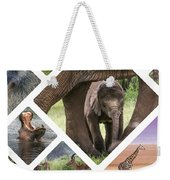 Collage Of Animals From Tanzania Weekender Tote Bag