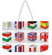 Collage Of Flags Of Different Nation  Weekender Tote Bag