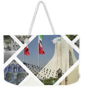 Collage Of Iran Images  Weekender Tote Bag