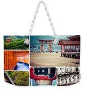 Collage Of Japan Images Weekender Tote Bag