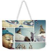 Collage Of Kathmandu  Weekender Tote Bag