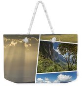 Collage Of Table Mountain Roraima  Weekender Tote Bag