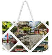 Collage Of Taoist Temple In Cebu, Philippines. Weekender Tote Bag