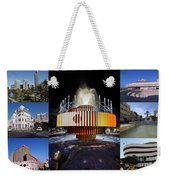 Collage Of Tel Aviv Israel Weekender Tote Bag