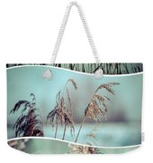 Collage Of Winter Grass Weekender Tote Bag