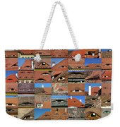 Collage Roof And Windows - The City S Eyes Weekender Tote Bag