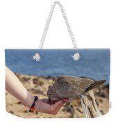 Collared Dove Feeding From A Hand Weekender Tote Bag