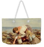 Collecting Shells  Weekender Tote Bag by William Marshall Brown