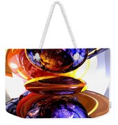Colliding Forces Abstract Weekender Tote Bag