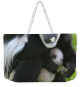 Colobus Monkey With Baby Weekender Tote Bag