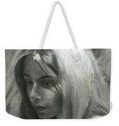 Portrait Of Woman In Charcoal Weekender Tote Bag