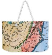 Colonial America Map Weekender Tote Bag
