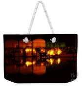 Colonial Beach Docks After Dark Weekender Tote Bag