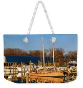 Colonial Beach Docks Weekender Tote Bag