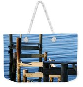 Colonial Beach Pilings Weekender Tote Bag