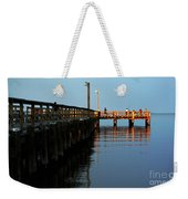 Colonial Beach Town Pier Weekender Tote Bag