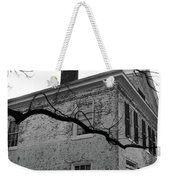 Colonial House With Flag Weekender Tote Bag