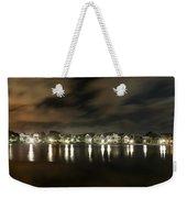 Colonial Lake At Night Weekender Tote Bag