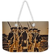 Colonial Soldiers On Parade Weekender Tote Bag