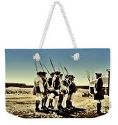 Colonial Soldiers Standing At Attention Weekender Tote Bag