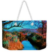 Color Along The River Weekender Tote Bag