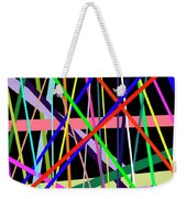 Color Lines Variety Background Weekender Tote Bag