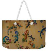 Color Lizards On The Wall Weekender Tote Bag