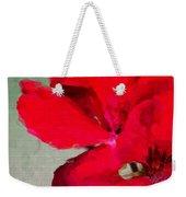 Color Me Red Weekender Tote Bag