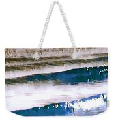 Color Movement-blue And Beige Weekender Tote Bag