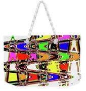 Color Wave Abstract Weekender Tote Bag