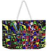 Color Works Abstract Weekender Tote Bag
