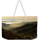 Colorado And Manitou Springs Valley In Fog Weekender Tote Bag