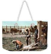 Colorado: Branding Calves Weekender Tote Bag